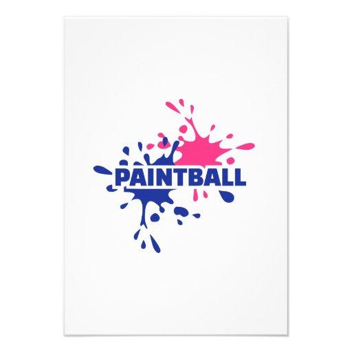 Chapoteo del color de Paintball Invitaciones Personalizada