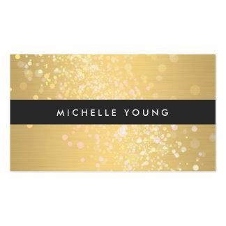 Chapoteo del color en oro y negro para los artista tarjetas de visita