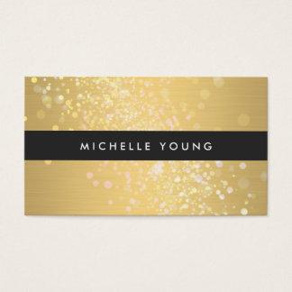 Chapoteo del color en oro y negro para los tarjeta de negocios