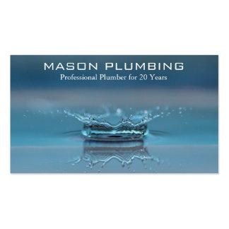 Chapoteo del descenso del agua - fontanero - tarjetas de visita