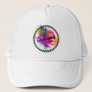 Chapoteo del gorra del arte