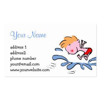 chapoteo splish del dibujo animado lindo divertido tarjetas de visita
