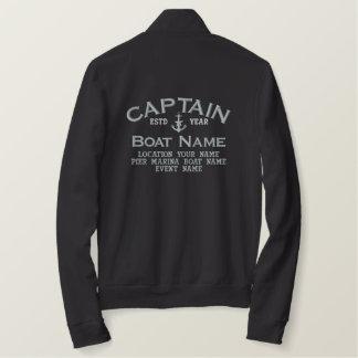 Chaqueta Bordada Capitán Silver Star Anchor Easily personalizado