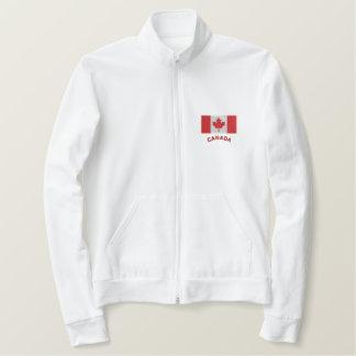 Chaqueta Bordada Orgulloso ser suéter canadiense