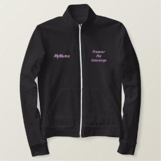 Chaqueta Bordada Pet primero Concierge Purple Custom