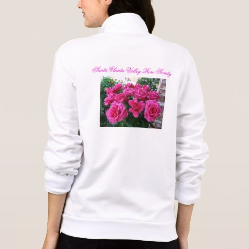 Chaqueta de las señoras con los rosas rosados
