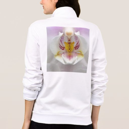 Chaqueta del flor de la orquídea de las señoras