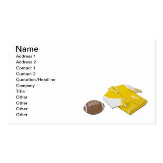 Chaqueta del ganador de una letra del fútbol tarjetas de visita