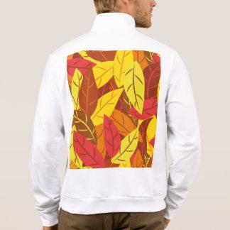 Chaqueta Hojas calientes coloreadas modelo del otoño