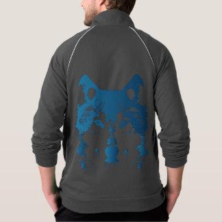 Chaqueta Lobo de los azules claros del ilustracion