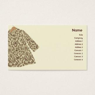 Chaqueta - negocio tarjeta de visita
