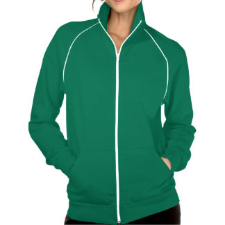 chaqueta verde y blanca de American Apparel de la