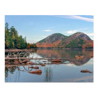 Charca de Jordania del parque nacional del Acadia Postal