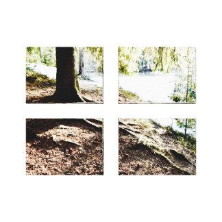 Charca del bosque lienzo