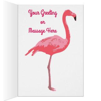 Charca del flamenco tarjeta de felicitación