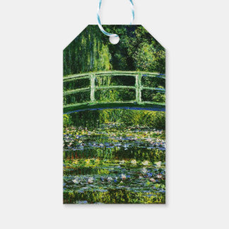 Charca del Monet-Agua-Lirio de Claude Etiquetas Para Regalos