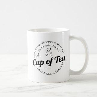 Charla a mí después de mi primera taza de té