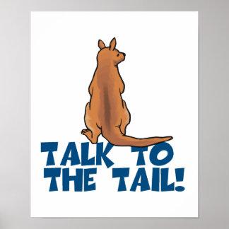 Charla al canguro de la cola póster