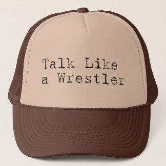 Charla como un gorra del camionero del luchador