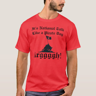 Charla como un pirata camiseta