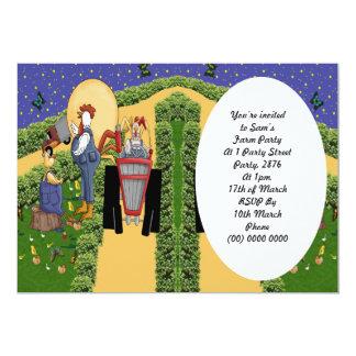 Charla de la granja invitación 12,7 x 17,8 cm