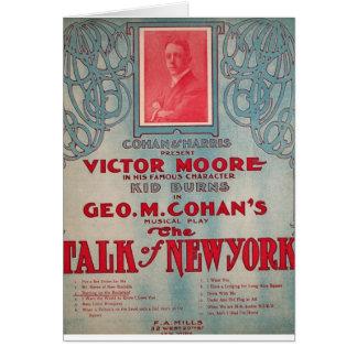 Charla de Nueva York, Cohan, vencedor Moore Tarjeta De Felicitación