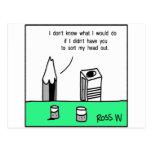 Charla del lápiz tarjetas postales
