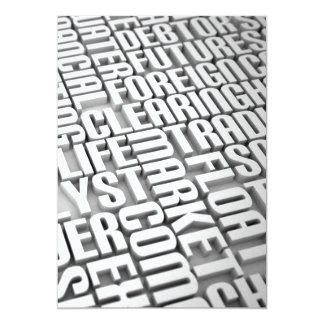 Charla del negocio - invitación invitación 12,7 x 17,8 cm