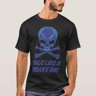 Charla impresa del diamante artificial como un camiseta