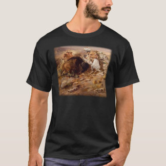 Charles Marion Russell - caza del búfalo Camiseta