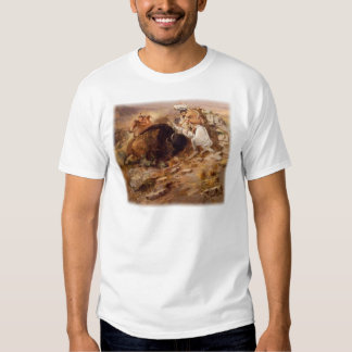 Charles Marion Russell - caza del búfalo Camisetas