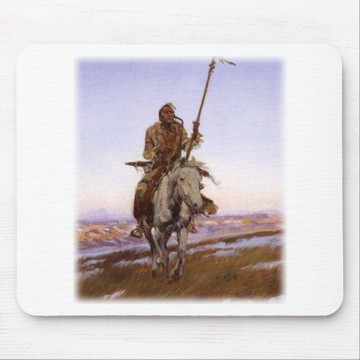 Charles Marion Russell - indio del Cree Alfombrillas De Raton