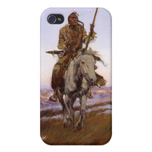 Charles Marion Russell - indio del Cree iPhone 4 Protector