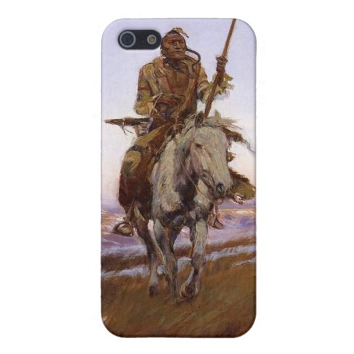 Charles Marion Russell - indio del Cree iPhone 5 Funda