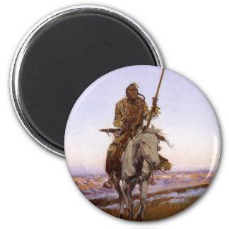 Charles Marion Russell - indio del Cree Imán Para Frigorífico