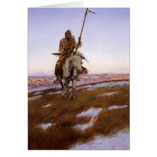 Charles Marion Russell - indio del Cree Tarjeta De Felicitación