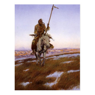 Charles Marion Russell - indio del Cree Postal