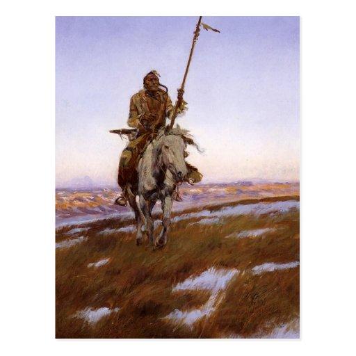 Charles Marion Russell - indio del Cree Tarjeta Postal
