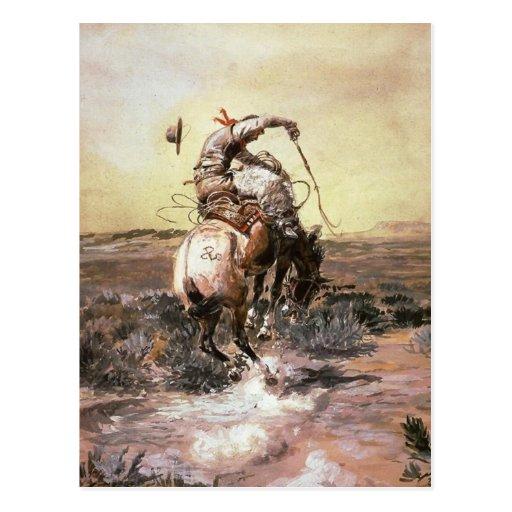 Charles Marion Russell - jinete pulido Tarjetas Postales