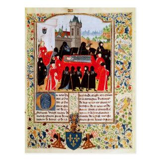 Charles VI del entierro de Francia Postales