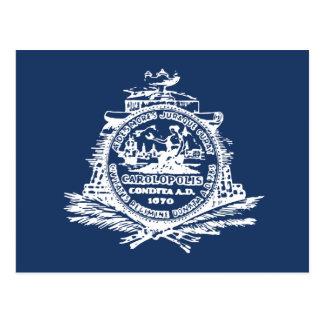 Charleston, bandera del SC Tarjeta Postal