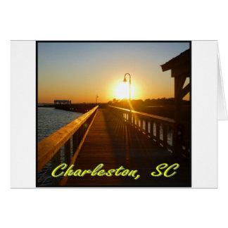 Charleston puesta del sol del SC Felicitacion
