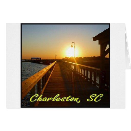 Charleston, puesta del sol del SC Felicitacion