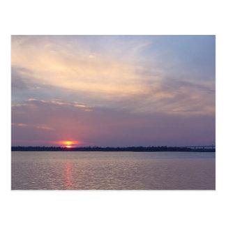 Charleston, puesta del sol del SC Tarjetas Postales