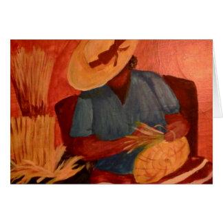 Charleston, señora de la cesta del SC del artista Tarjeta Pequeña