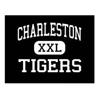 Charleston - tigres - alta - Charleston Arkansas Tarjeta Postal