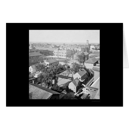 Charleston y la ciudadela del orfelinato 1865 felicitación