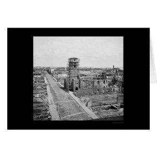 Charleston y ruinas de la iglesia circular 1865 felicitación