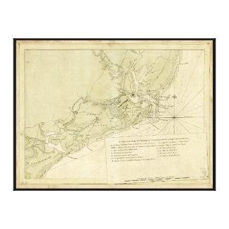 Charlestown Carolina del Sur (1780) Impresión En Lienzo