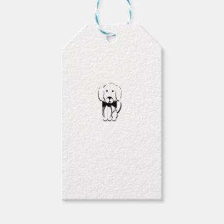 Charlie el dachshund etiquetas para regalos